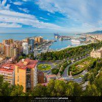 Panorámica de Málaga Día