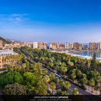 Panorámica de Málaga desde el Hotel Málaga Palacio