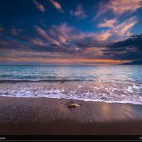 Atardecer en la playa de Los Baños