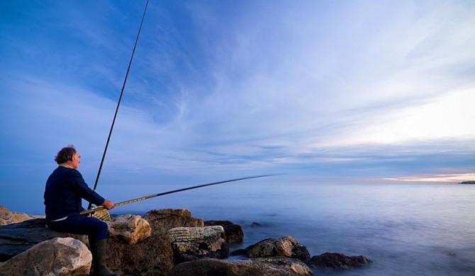 Pescador al atardecer