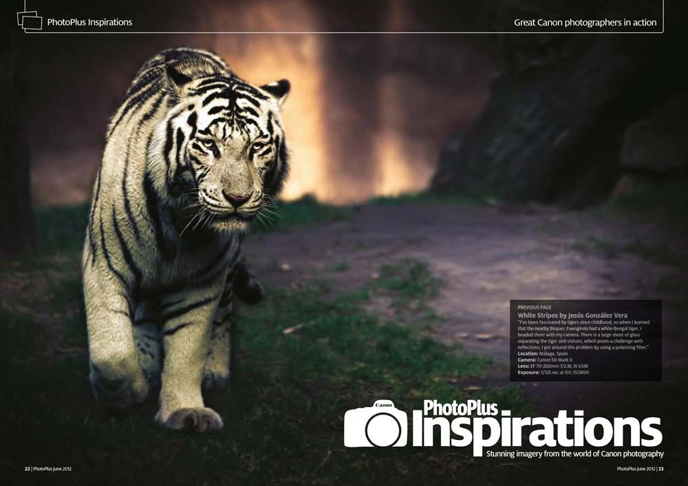 Me publican una foto a doble página en una revista del Reino Unido