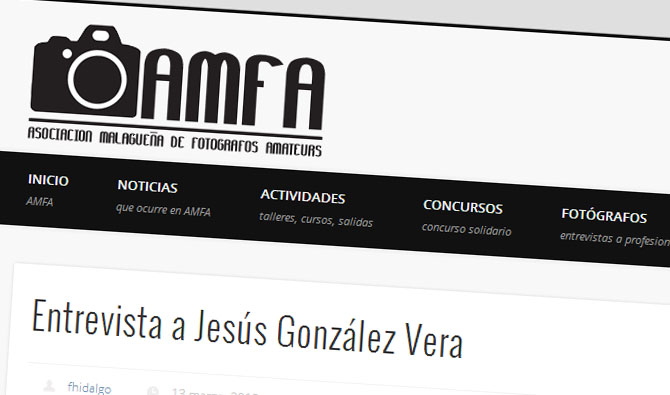 Jesús González, entrevistado por AMFA.